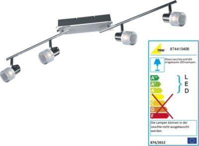 LED-Schiene, chrom/alu gebürstet, Länge max. 85 cm