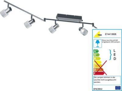 LED-Schiene, chrom/alu gebürstet, Länge max. 150 cm