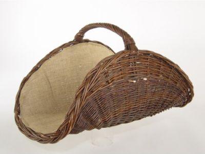 Kaminholzkorb aus Weide, 70x50 cm