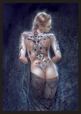 Bild Tatoo Girl 65x93 cm von Luis Royo