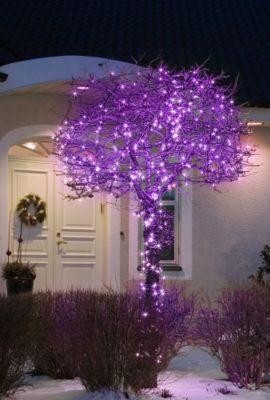 Micro LED Lichterkette mit 40 farbigen LEDs, für Außen