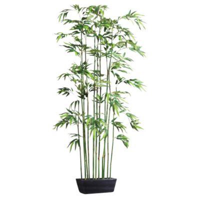 Kunstpflanze Bambusraumteiler im Holzkasten
