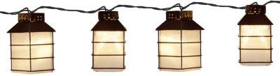 LED-Partylichterkette Laternen für außen, 10-teilig