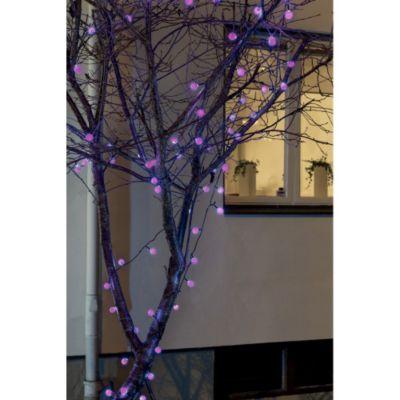 LED Lichterkette mit buntem Farbwechsel, 80 große Lichter