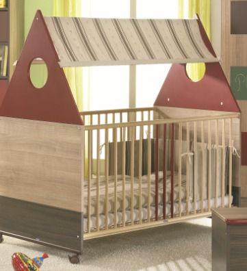 taube Wäscheset zu Kinderbett Schoko/Nougat-Na...