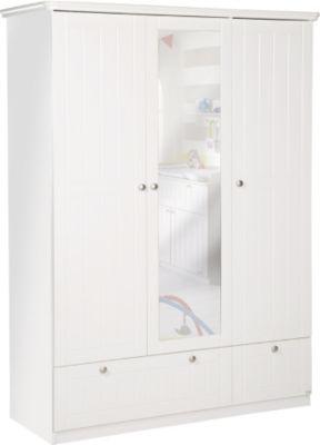 Kleiderschrank Dreamworld 2, 3-türig, weiß-matt