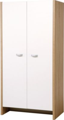 Kleiderschrank Ancona, eiche-sägerau/weiß