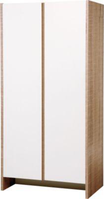 Kleiderschrank Maxima, eiche sägerau/weiß