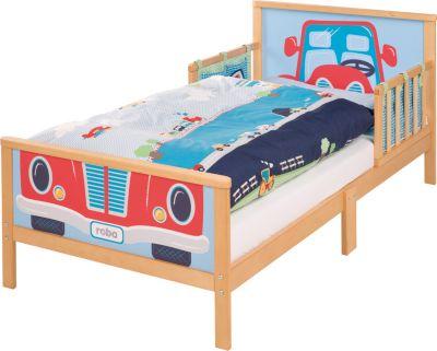 Toddler-Komplettbett Cars, 70x140 cm. buche natur