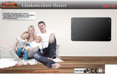 MAUK Wand Glas Konvektor 800 W