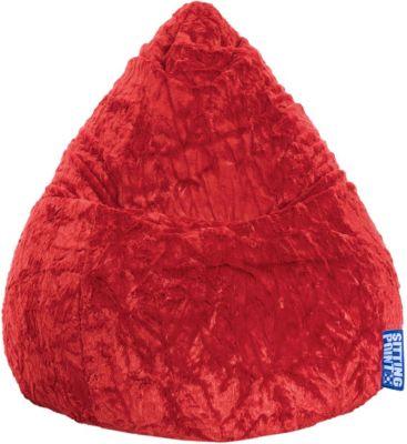 Magma Sitzsack Fluffy L rot
