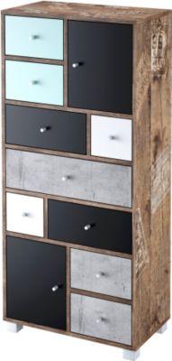 schildmeyer Highboard Adonis, 9 Schubkästen, 2 Türen