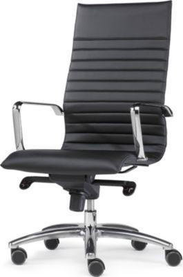 Sitwell Büro-Sessel DESIGN mit Chromgestell mit Alu-Fußkreuz