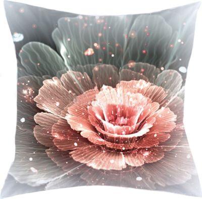 SCHMIDTGARD STOFFE Satin-Kissenhülle Anemon, rose, Digitaldruck