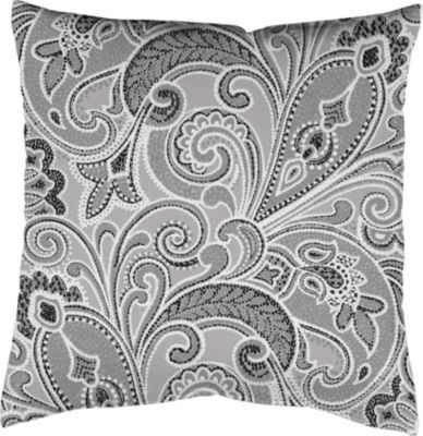 SCHMIDTGARD STOFFE Satin-Kissenhülle Ornamento, grau, Digitaldruck