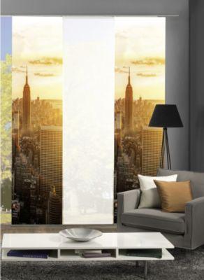 HOME Wohnideen Komplett-Fenster-Schiebevorhang Horizont, 3-er Set, 245x60 cm, natur
