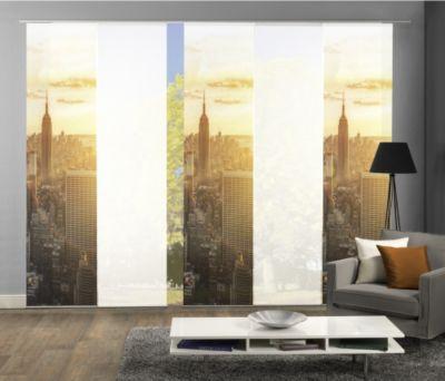 HOME Wohnideen Komplett-Fenster-Schiebevorhang Horizont, 5-er Set, 245x60 cm, natur