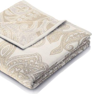 bocasa Heim- und Schlafdecke Visiona Cotton Grand Paisley, 150x200 cm
