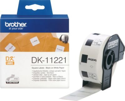 Brother Schriftband Quadratische Etiketten DK-1...