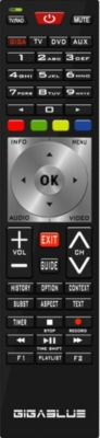 GigaBlue Fernbedienung Remotecontrol Universal 4K