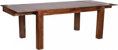 Möbel Campus Esstisch Massivholz Sheesham 160 - 240 cm ausziehbar Esszimmer-Tisch Design Küchentisch Landhaus-Stil Holztisch