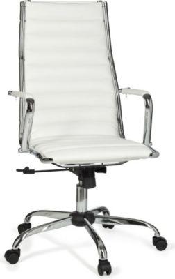 Möbel Campus Bürostuhl GENUA 1 Bezug Kunstleder Weiß Schreibtischstuhl 110kg Chefsessel höhenverstellbar Drehstuhl X-XL