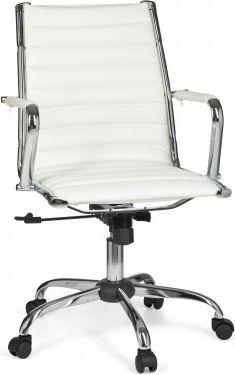 Möbel Campus Bürostuhl GENUA 2 Bezug Kunst-Leder Weiß Schreibtischstuhl 110kg Chefsessel höhenverstellbar Drehstuhl X-XL
