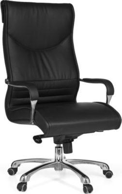 Möbel Campus Bürostuhl MILAN Bezug Kunstleder Schreibtischstuhl Schwarz X-XL 120kg Chefsessel höhenverstellbar Drehstuhl