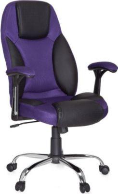 Möbel Campus Bürostuhl LOMA Kunstleder Lila Schreibtischstuhl X-XL Chefsessel Wippmechanik 120KG Drehstuhl mit Armlehnen