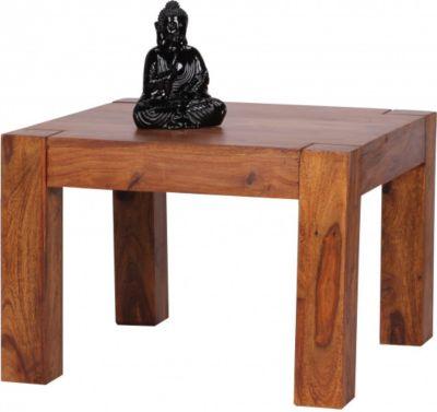 Couchtisch yoga 90x90 cm sheesham natur wohnzimmertisch by for Couchtisch yoga sheesham