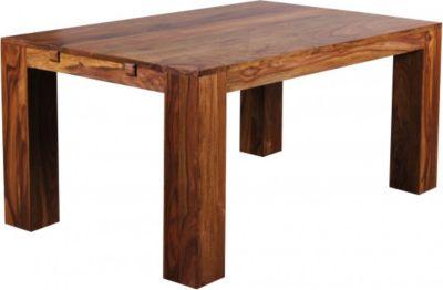 Möbel Campus Esstisch Massivholz Sheesham 160-240cm ausziehbar Esszimmer-Tisch Holztisch Design Küchentisch Landhaus-Stil