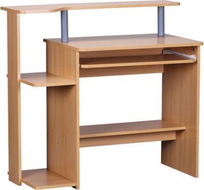Möbel Campus Computertisch Buche Dekor mit viel Ablage