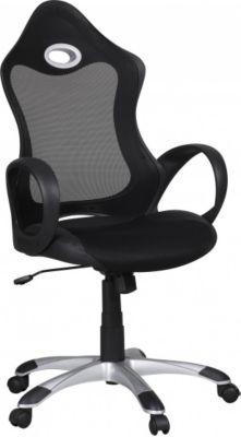 Möbel Campus Bürostuhl TOMY Stoffbezug Schreibtischstuhl Armlehne schwarz grau Chefsessel Drehstuhl höhenverstellbar XXL
