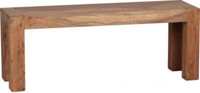 Möbel Campus Esszimmer Sitzbank Massiv-Holz Akazie 120 x 45 x 35 cm Holz-Bank Natur-Produkt Küchenbank im Landhaus-Stil
