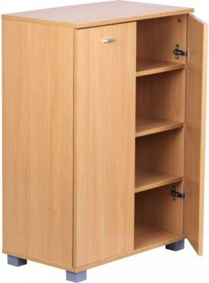 Möbel Campus Schuhschrank 2-Türig 60 x 90 x 35 cm Buche 12 Paar Schuhe