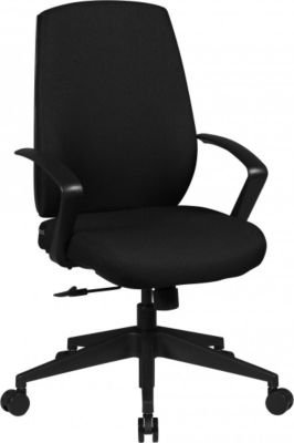 Möbel Campus Bürostuhl Charles Bezug Stoff Schwarz Schreibtischstuhl Design Chefsessel mit Armlehne Drehstuhl Polsterung