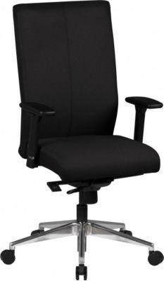 Möbel Campus Bürostuhl ADAM Stoffbezug Schwarz Schreibtischstuhl Chefsessel Drehstuhl Synchronmechanik Armlehne 120kg XL
