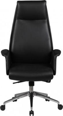Möbel Campus Bürostuhl Fraser Echtleder schwarz Schreibtischstuhl Chesterfield-Design Chefsessel Kopfstütze Drehstuhl