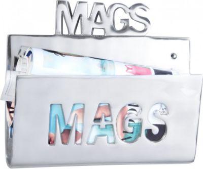 Möbel Campus Magazinhalter MAGS für die Wand Design Zeitungshalter News Zeitschriftenhalter aus Aluminium Farbe Silber