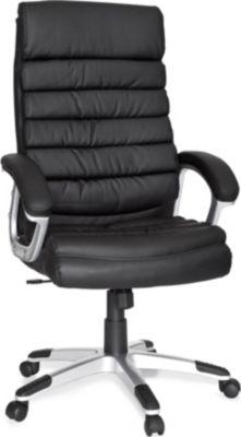 amstyle b rostuhl valencia kunstleder schwarz ergonomisch mit kopfst tze chefsessel. Black Bedroom Furniture Sets. Home Design Ideas