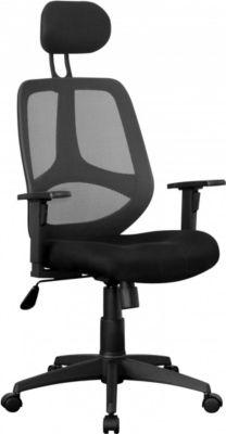 Amstyle AMSTYLE Bürostuhl FLORENZ 2 Stoffbezug Schreibtischstuhl 120 kg Armlehne schwarz Chefsessel Drehstuhl Kopfstütze