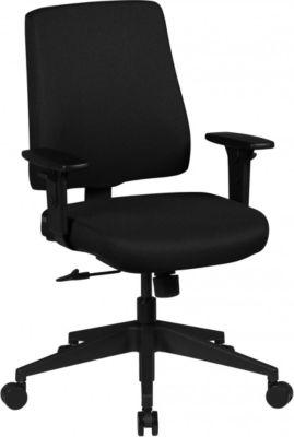AMSTYLE Bürostuhl MATTEO Bezug Stoff Schwarz Schreibtischstuhl Design Chefsessel Armlehne Drehstuhl Polsterung 120 kg