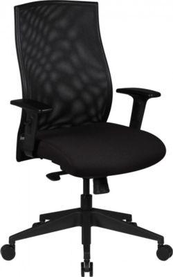 Amstyle AMSTYLE Bürostuhl DAVID Bezug Stoff Schwarz Schreibtischstuhl Design Chefsessel Armlehne Drehstuhl Polsterung 12