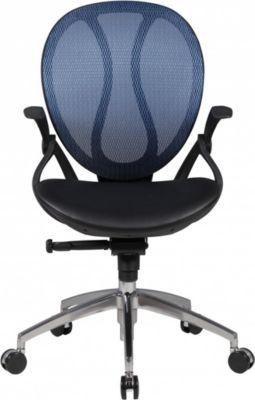 Amstyle AMSTYLE Bürostuhl SHAPE 1 Bezug Kunstleder Blau Schreibtischstuhl Chefsessel Drehstuhl mit Synchronmechanik & Ar