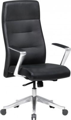AMSTYLE Bürostuhl BELFORT Echtleder Schwarz Schreibtischstuhl XXL 120kg mit Kopfstütze Drehstuhl höhenverstellbar hoc