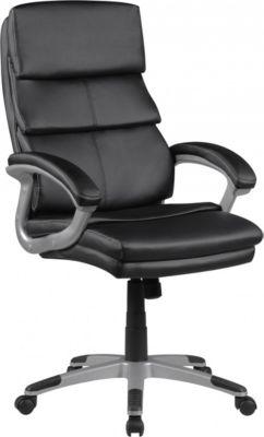 AMSTYLE Bürostuhl SAN FRANCISCO Schwarz Kunstleder Schreibtischstuhl X-XL Chefsessel 120 KG Drehstuhl mit Armlehne
