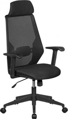 Amstyle AMSTYLE NetStar | Bürostuhl Stoff-Sitzfläche in schwarz | Schreibtischstuhl mit Rückenlehne | Drehstuhl höhenver