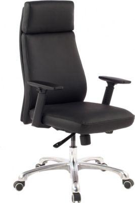 Amstyle AMSTYLE PORTO | Bürostuhl aus Echtleder in schwarz | Chefsessel mit Synchronmechanik | Drehstuhl mit Kopfstütze
