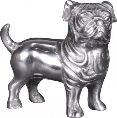 Wohnling Design Deko Hund BULLDOGGE Aluminium S...