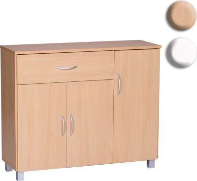 Sideboard JARRY Buche Mit 1 Schublade U0026 3 Türen 90 X 75 X 30 Cm |